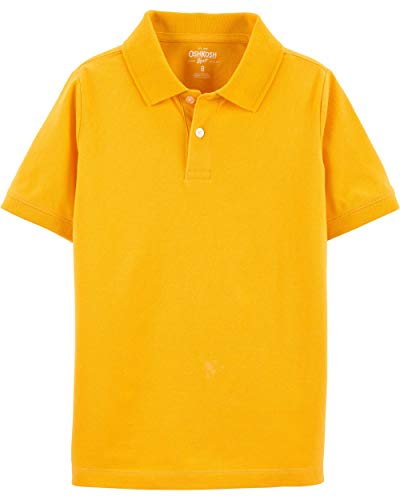 Osh Kosh Boys' Toddler Short Sleeve Uniform Polo, Curry Up, 3T