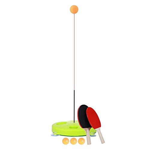 globalqi Tischtennis-Rebound-Trainer mit elastischem, weichem Schaft, Tischtennis-Übungsset, Fester Schaft, Rapid Backbound-Maschine für das Ping-Pong-Ball-Training, einschließlich 5 Stück Bälle