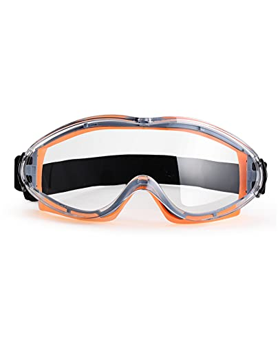PACIFIC PPE Protective Safety Goggles Lab Goggles, Safety Goggles Over Glasses, Anti Fog, Adjustable, Eye Protection Glasses