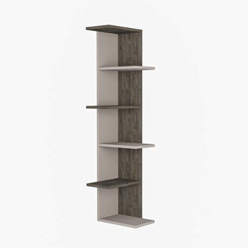 Ada Home Decor Barrett Modern Burgundy Bookcase 68.11'' H x 36.22'' W x 11.02'' D/Shelving Unit/Bookshelf