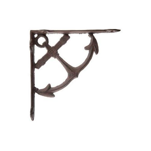 Nautical Anchor Cast Iron Wall Shelf Brackets Set of 2 Home Rustic Decor