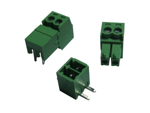 10 Pcs Pitch 5.08mm 3way//pin Screw Terminal Block Connector w//Straight-pin Green Color Pluggable Type Skywalking