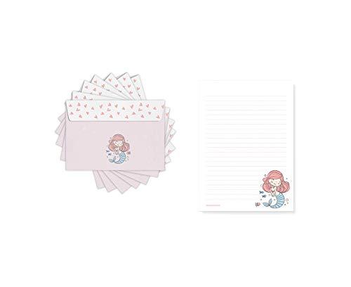 Friendly Fox Papel de carta infantil con diseño de sirena – Bloc...