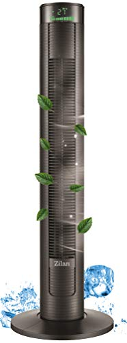 Turmventilator | 3 Stufen | <45dB | 4 Modi | 45 Watt | 12h Timer | Fernbedienung | Oszillierend | Grünes LED-Display | Tower-Ventilator | Standventilator | Säulenventilator | Luftkühler