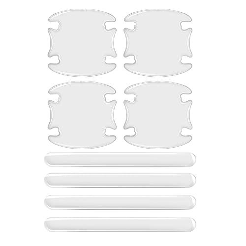 OPALLEY Auto Türgriff Schutzfolie für Griffmulden/Griffschalen - 4er Set Lackschutzfolie für Griffschalen/Griffmulden mit acht Schutzfolien, transparenter, selbtklebender Lackschutz