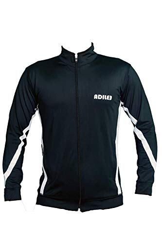 Adilee Men Polyster Slim Fit Training Sporty Jackets Stretchable, Comfortable & Absorbent Gym Workout Zip Closure for Casual Wear, Black