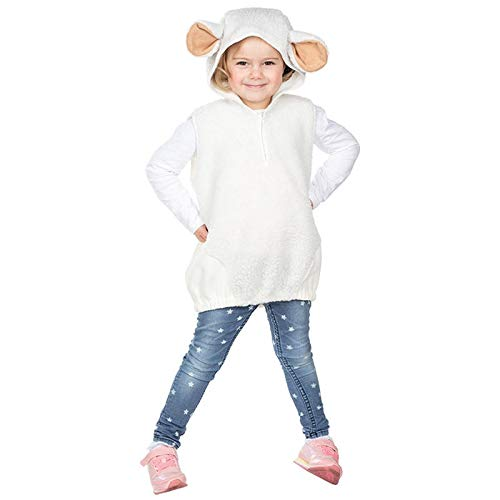 PARTY DISCOUNT® Kinder-Kostüm Schaf Überwurf, Einheitsgröße