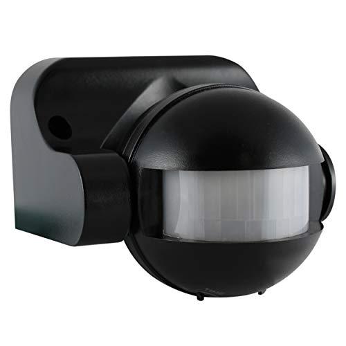 REV 0075114512 Bewegungssensor, Bewegungsmelder 110°/12m, Dämmerungsr. 7 Min. 1200W, schwarz