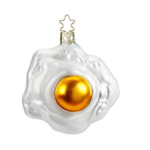 Inge-Glas Breakfast! Fried Egg 10125S018 IGM German Glass Christmas Ornament