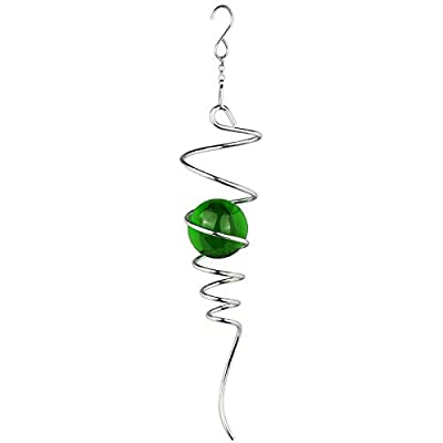 Amazon - 70% Off on  Gazing Ball Spinner Wind Spinner Tail Outdoor Hanging Wind Spinner with Swivel Hook