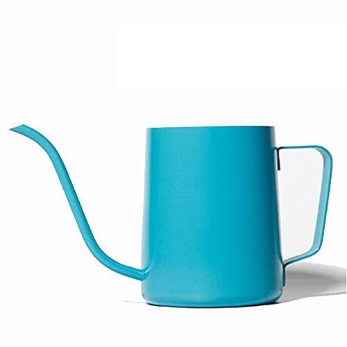 Cafetera Coffee Pot Cafetera De Acero Inoxidable Hervidor De Cuello De Cisne Hervidor De Goteo Espesado Cafeteras De Pico Fino Pico De Ganso Herramienta De Té 250Ml / 350Ml-Azul 350Ml