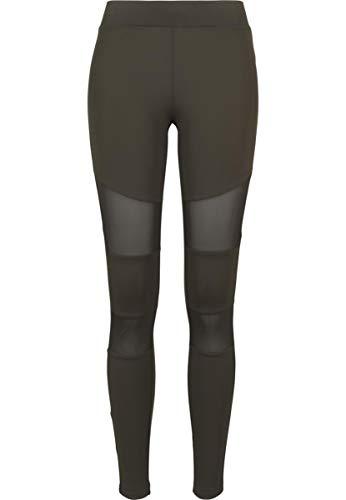 Urban Classics Ladies Tech Mesh Leggings, Schwarz (black 7), XS