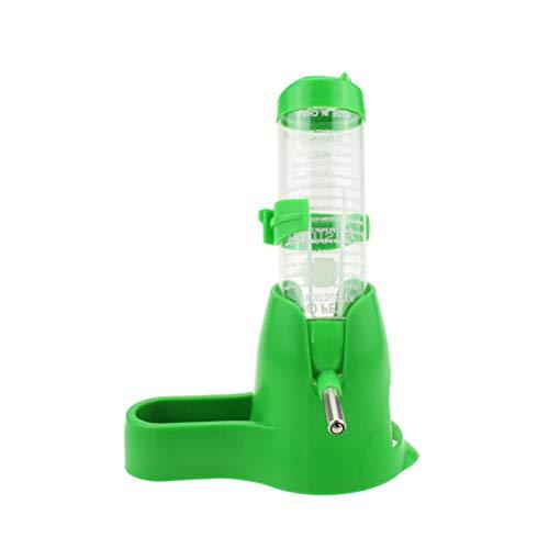 POPETPOP Hamster Bouteille d'eau Chargeur Automatique Distributeur d'eau pour Rats Lapins d'Inde Hurons Lapins Petits Animaux Vert