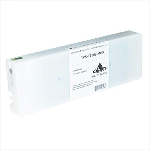 Tintenpatrone kompatibel für Epson Stylus T6368 C13T636800 Pro WT 7700 7890 7900 9700 9890 9900 SpectroProofer UV Series EFI - Matt Schwarz 700ml
