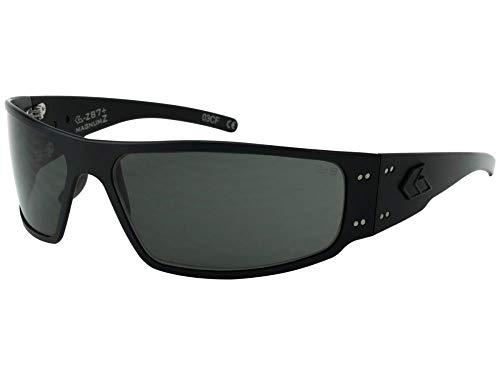 Gatorz Magnum Z Aluminum Frame, ANSI Z87 Safety Sunglasses-Blackout/Smoked Lens