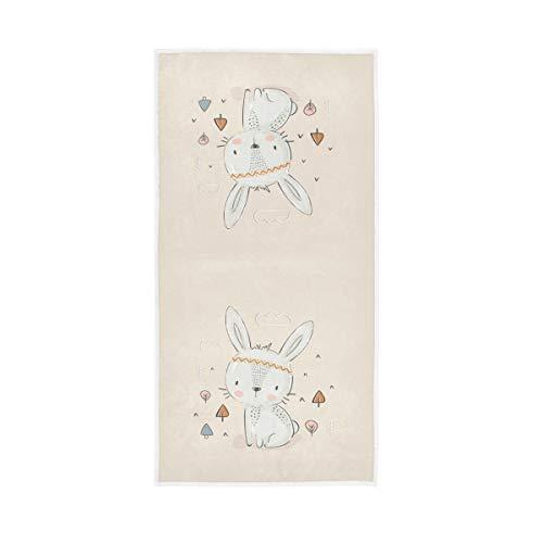Mr.Lucien Toallas de baño de mano de conejo fresco bebé de secado rápido toalla de mano altamente absorbente toalla de cara para baño 30 x 15 pulgadas 2020028