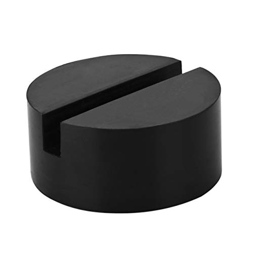 YZ-Room Universal Jack Pad Slotted Rubber Jack Pad Medium Size - Frame Rail Protector Puck/Pad Keeps Pinch Weld, Paint and Metal Safe (1 Pack)