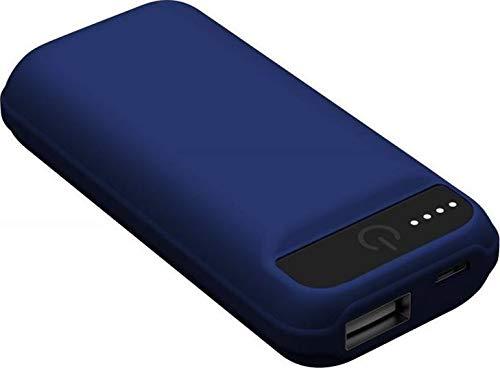 IconBit FT-0052G powerbank met 5.000 mAh, zaklamp, compact design blauw
