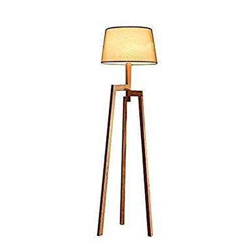 CHENJIA Triángulo Nórdico de madera maciza Lámpara de pie, pantalla de la tela, Sofá de cabecera de estar Sala de Estudio Paso de iluminación decorativa, 160 * 40cm
