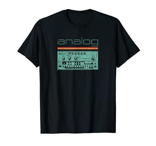 Analog Vintage Synthesizer T-Shirt - Acid Nerd Synth 80s