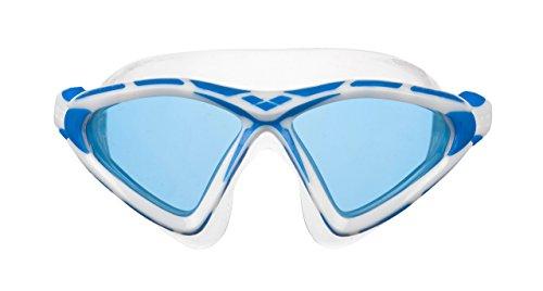 arena Unisex Schwimmmaske Brille X-Sight 2 (UV-Schutz, Anti-Fog Beschichtung, Harte Gläser), Clear-Blue-Blue (71), One Size