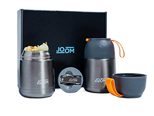 JOOM 2 Pack Vacuum Insulated Food Jar Hot Food Containers for Lunch Soup Thermos for Kids Stainless Steel Thermos for Hot Food Adult Lunch Box Travel Food Flask Bento Box Hot or Cold