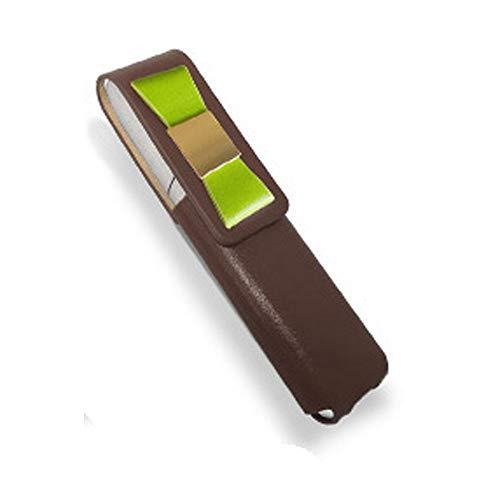 IQOS 3 MULTI 専用 アイコス3 リボン 本革 マルチ ケース (ブラウン/グリーンリボン) iQOSケース シンプル 無地 保護 カバー 収納 カバー 全4色 電子たばこ 革
