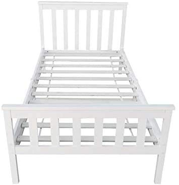 Schlafzimmermöbel 3 ft Kiefer Bedstead Betten für Erwachsene,White