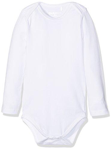 Dirkje Body Long Sleeves, Barboteuse Mixte Bébé, Blanc (White), 50/56 cm