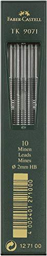 Faber-Castell 127100 TK 9071 - Lote de 10 minas de 2 mm, dureza HB
