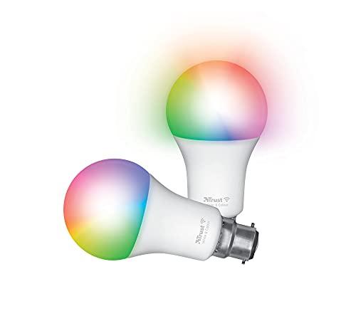 Trust Smart Home - Lampadina a LED B22, con luce LED a LED, compatibile con Alexa, confezione da 2