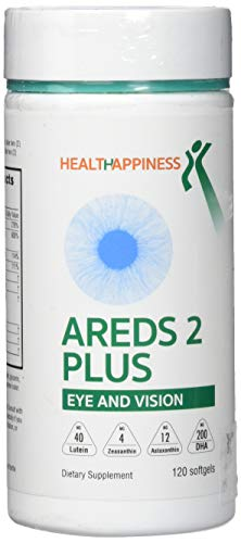 AREDS 2 Eye Vitamins for Macular Degeneration - Lutein 40 mg with Zeaxanthin, Astaxanthin 12mg & DHA 200mg for Dry Eye & Digital Eye Strain - Perfect for Adults, Computer Users and Gamers 120 softgels
