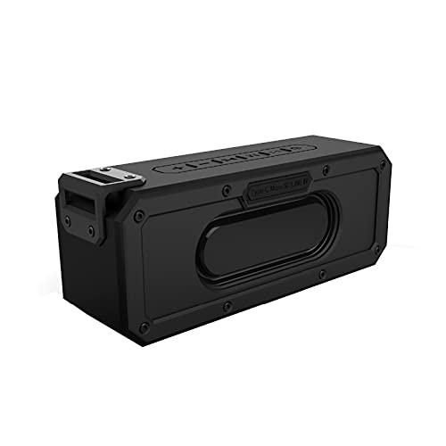 GUOOO Altavoz Bluetooth, Fácil de Transportar, Bluetooth 4.2 Efecto estéreo, IPX7 Impermeable, Adecuado para el hogar, Viajes, al Aire Libre, etc. 20.7 × 6.3 × 8.0cm Black