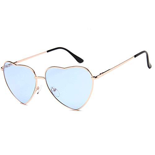 OULN1Y Gafas de sol Vintage Heart Sunglasses Women Candy Color Gradient Sun Glasses Outdoor Goggles Party