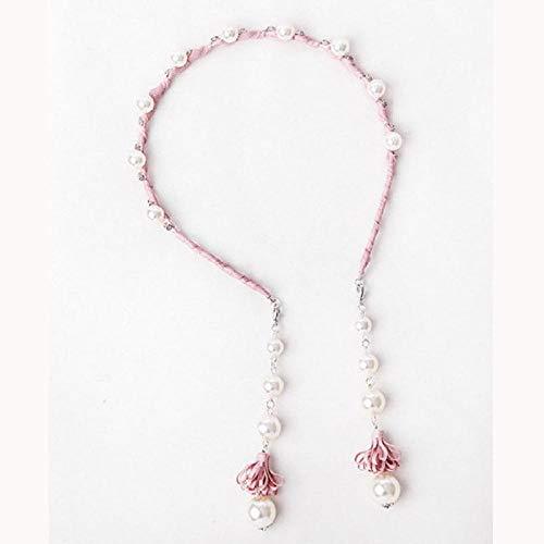 Accessoires pour cheveux Cheveux cerceau oreille goutte style féminin longue perle gland cheveux bundle fausses boucles d'oreilles tête cerceau une rose perle