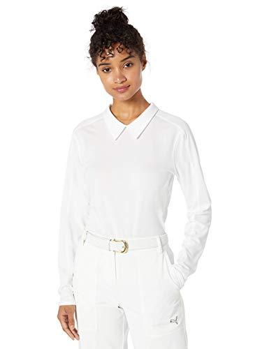 PUMA Polo à Manches Longues pour Femme 2019 XL Blanc Brillant