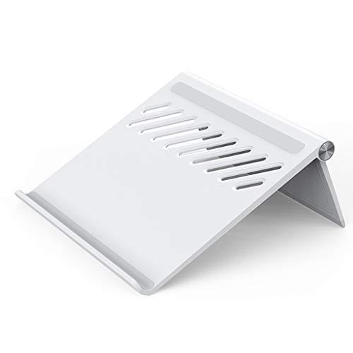 Laptop Ständer Desktop-erhöhte Wärmeabfuhr Stützrahmen Folding Portable Support Geeignet for 11-17 Zoll-Computer (Color : Weiß, Size : 24.5 * 25 * 6.8cm)