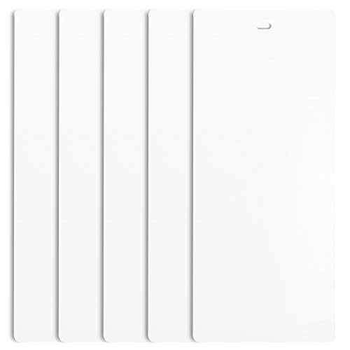 DALIX PVC Veritcal Blind Replacement Slats Curved Smooth White (82.5 Length) (5, White)