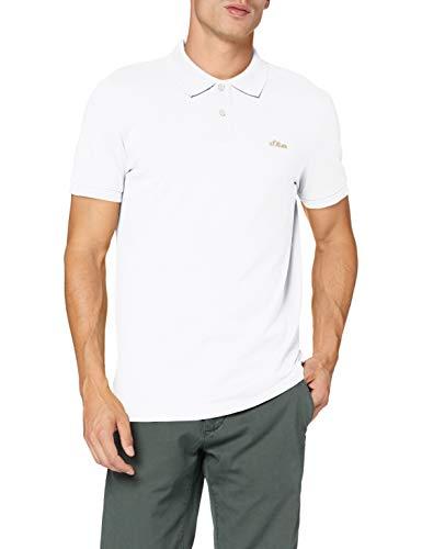 s.Oliver Herren 130.10.101.13.130.2064945 Polohemd, White, XL