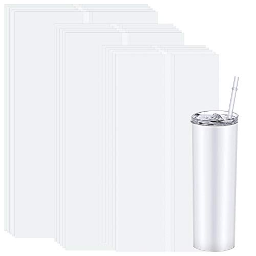 Meetory 30 Stück Schrumpffolie Schrumpffolienplatten, 3 Größen Schrumpffolie zum Basteln Schrumpffolienbeutel für Becher, Trinkgläser, Flaschen, Rohlinge Sublimation