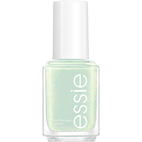 essie Nail Polish, Limited Edition Winter Trend 2020 Collection, Green Nail Color With A Shimmer Finish, Peppermint Conditions, 0.46 fluid_ounces