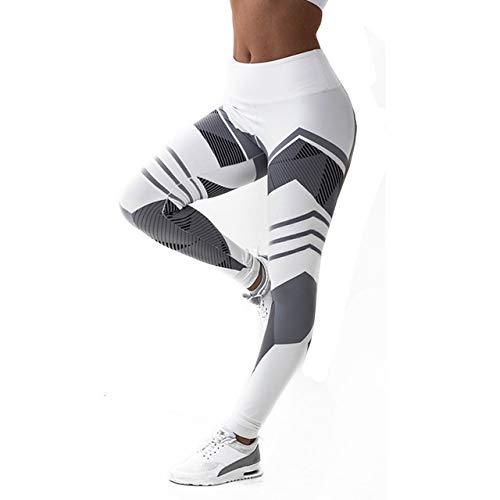 Boutique de Hanks Taille Haute de Remise en Forme Leggings Pantalon Yoga Fitness Yoga Sport Collants Femme Collants Running féminin, Taille: L (Noir) (Color : White)