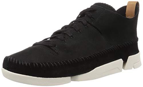 Clarks Originals Herren Trigenic Flex Sneaker, Schwarz (Black Nubuck), 45 EU