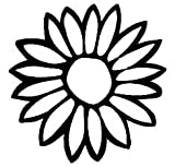 PLU Sunflower Black Decal Vinyl Sticker|Cars Trucks Vans Walls Laptop| Black |5.5 x 5.5 in|PLU576