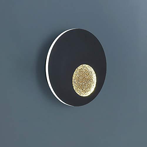 ZRWZZ Moderne dimbare led-wandlamp, driekleurige optionele maan-wandlamp, 13 W wandverlichting voor binnen en buiten, energiebesparende wandmontage lamp van smeedijzer