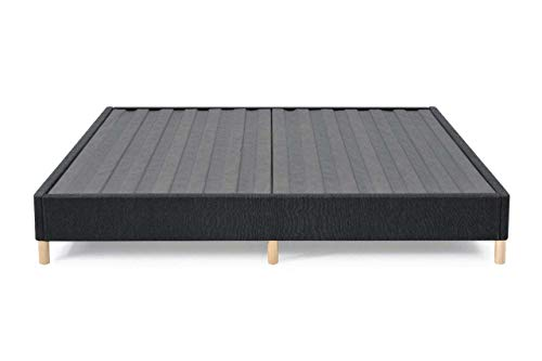 AMERISLEEP Mattress Bed Base Foundation CAL KING-Size | Box Spring Replacement | Tool-Less Assembly | Premium Durable Cover | Provides Support, Height, and Airflow For Your Mattress | 10-Year Warranty