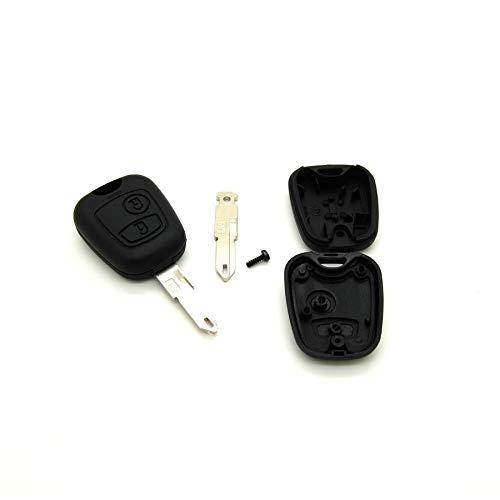 Carcasa para llave con telemando para Peugeot 106, 206, 306, incluye llave virgen