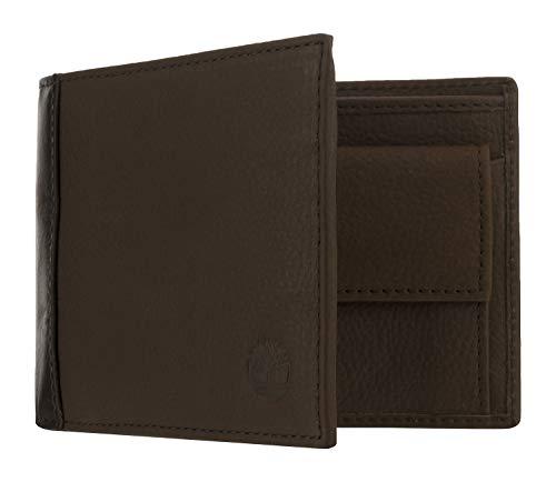 Timberland Portafoglio Uomo Pelle Marrone Con tasca porta monete A23M8 036
