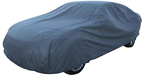Toolzy 100398 XL Ganzgarage Grau Vollgarage Autoabdeckplane Winter Sommer 540x175x120cm