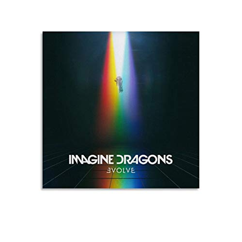 Imagine Dragons - Evolve on The Album Cover Canvas Art Poster and Wall Art Picture Print Modern Family Bedroom Decor Posters 12x12inch(30x30cm)